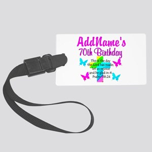 70TH PRAISE GOD Large Luggage Tag