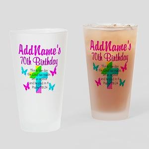 70TH PRAISE GOD Drinking Glass