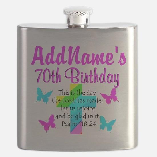 70TH PRAISE GOD Flask