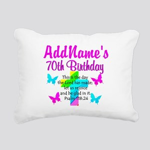 70TH PRAISE GOD Rectangular Canvas Pillow