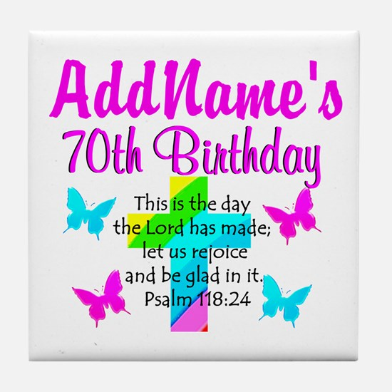 70TH PRAISE GOD Tile Coaster