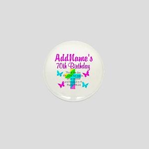 70TH PRAISE GOD Mini Button