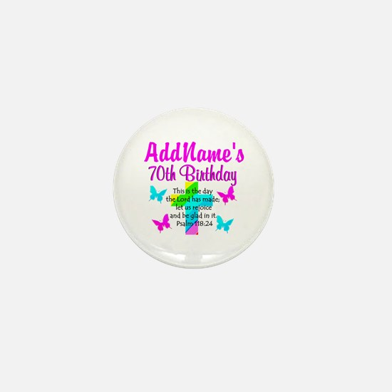 70TH PRAISE GOD Mini Button