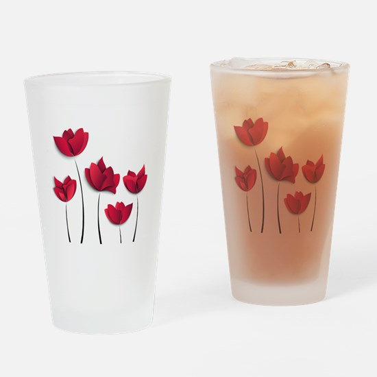 Paper Flowers Drinking Glass