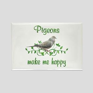 Pigeons Make Me Happy Rectangle Magnet