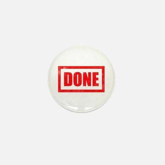 Done! Graduation Mini Button