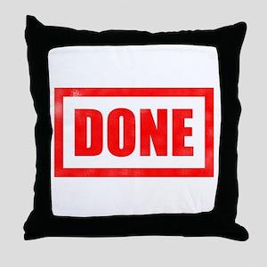 Done! Graduation Throw Pillow