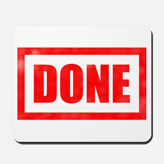 Done! Graduation Mousepad