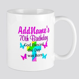 REJOICING 70TH Mug