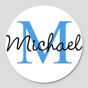 Personalize Iniital, and name Round Car Magnet