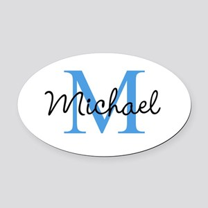 Personalize Iniital, and name Oval Car Magnet