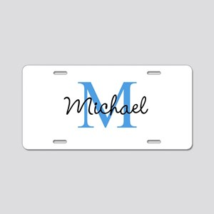 Personalize Iniital, and name Aluminum License Pla