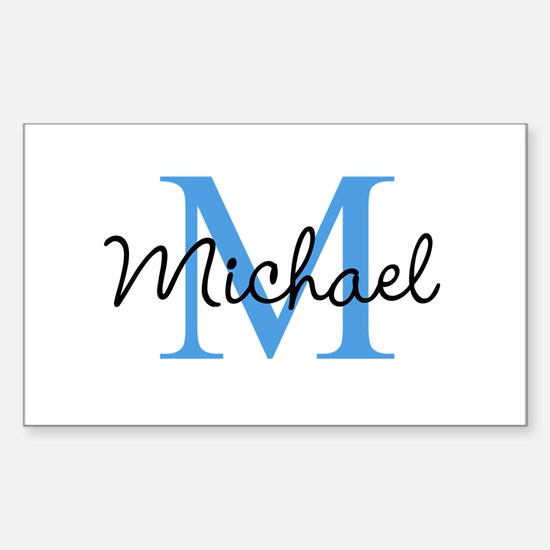 Personalize Iniital, and name Decal