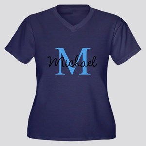 Personalize Iniital, And Name Plus Size T-Shirt