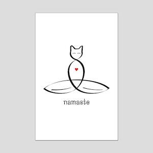 Cat Meditator - Namaste - Mini Poster Print