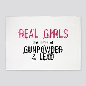 REAL GIRLS1 5'x7'Area Rug