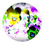 Violets Round Car Magnet