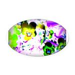 Violets Oval Car Magnet