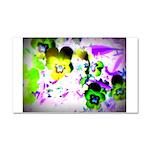 Violets Car Magnet 20 x 12