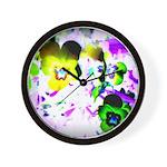 Violets Wall Clock