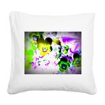 Violets Square Canvas Pillow