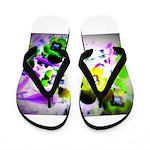 Violets Flip Flops