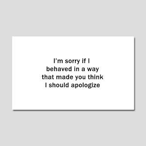 I'm Sorry Car Magnet 20 x 12
