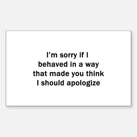 I'm Sorry Sticker (Rectangle)