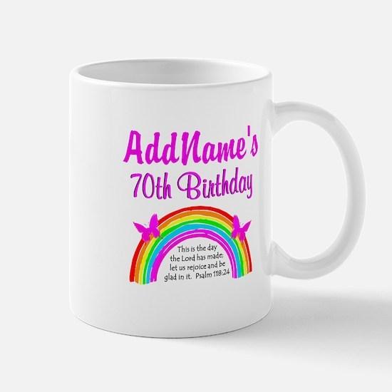 70TH RAINBOW Mug