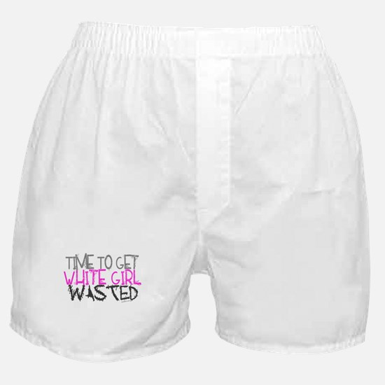 White Girl Wasted Boxer Shorts