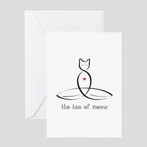 Cat Meditator - The Tao of Meow - Greeting Card