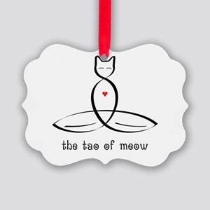 Cat Meditator - The Tao of Meow - Picture Ornament