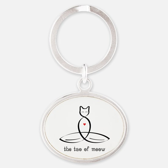 Cat Meditator - The Tao of Meow - Oval Keychain