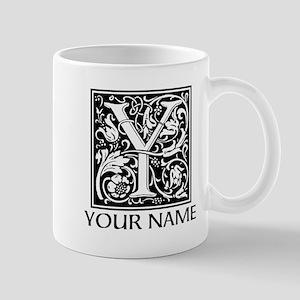 Custom Decorative Letter Y Mugs