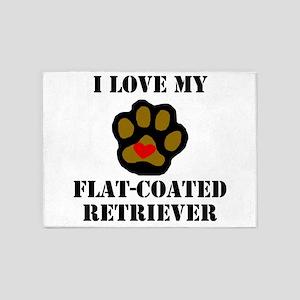 I Love My Flat-Coated Retriever 5'x7'Area Rug