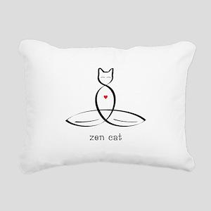 Cat Meditator - Zen Cat Rectangular Canvas Pillow