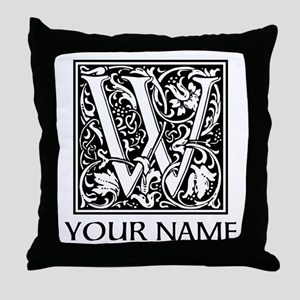 Custom Decorative Letter W Throw Pillow