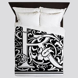 Custom Decorative Letter R Queen Duvet