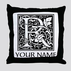 Custom Decorative Letter R Throw Pillow