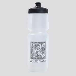 Custom Decorative Letter R Sports Bottle