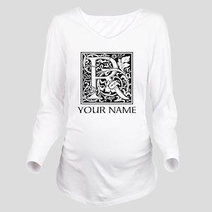 Custom Decorative Letter R Long Sleeve Maternity T