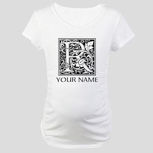 Custom Decorative Letter R Maternity T-Shirt
