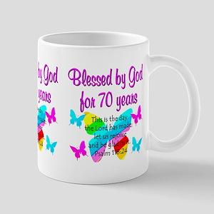 70TH BUTTERFLY Mug