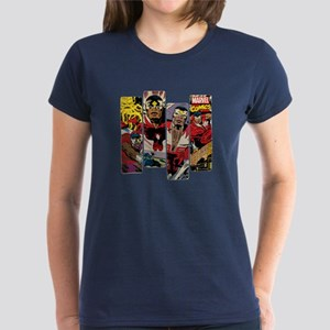 Falcon Comic Panel Women's Dark T-Shirt