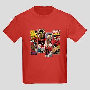 Falcon Comic Panel Kids Dark T-Shirt