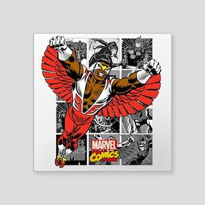 """Comic Falcon Square Sticker 3"""" x 3"""""""