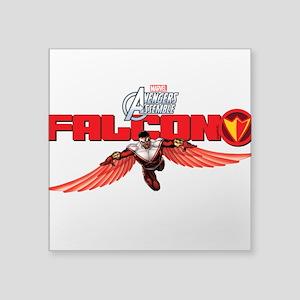 """Falcon Wings Square Sticker 3"""" x 3"""""""