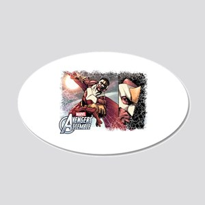 Falcon Grunge 20x12 Oval Wall Decal