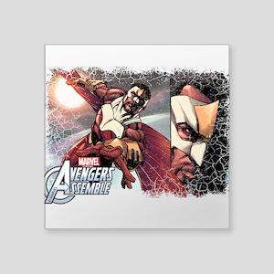 """Falcon Grunge Square Sticker 3"""" x 3"""""""