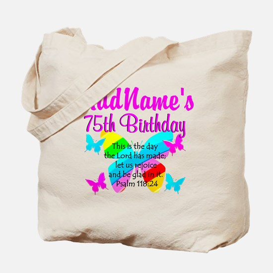 75TH BUTTERFLY Tote Bag